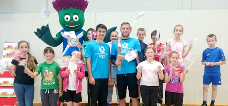 The Commonwealth Games Torch Visits Prestatyn